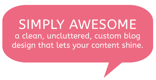 Simply Awesome - clean uncluttered blog design