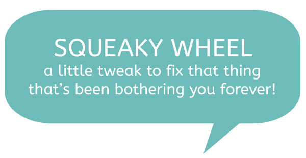 Squeaky Wheel - a couple of small tweaks to make your blog better