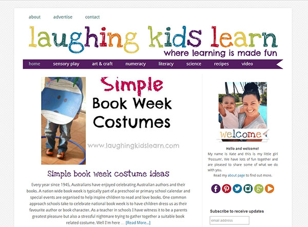 Laughing Kids Learn - blog and logo design